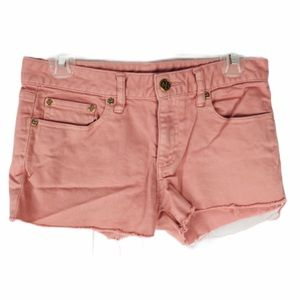 Tory Burch Repurposed Cut Off Light Jean Shorts